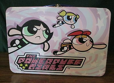 The Powerpuff Girls Large Lunchbox Style Metal Case/ Container w/ Hinged Lid