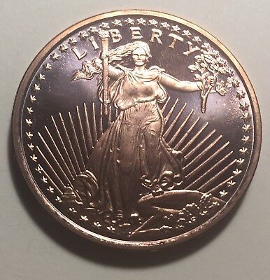 United States Standing Liberty One Ounce (1oz.) Pure Copper Coin - Round