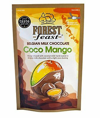 Forest Feast Belgian Milk Chocolate Coco Mango 600gm BBE 30/10/17