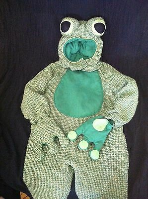 Baby FROG HALLOWEEN COSTUME Infant 12-18 mos Child WARM w Mittens