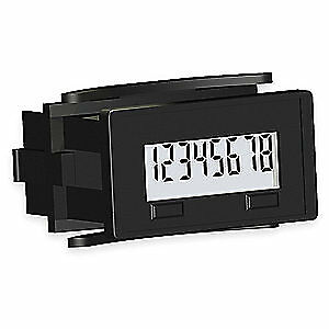 REDINGTON Electronic Counter,8 Digits,LCD, 6300-2500-0000