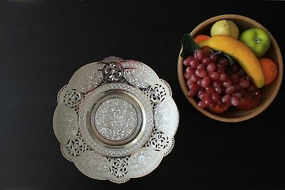 Persian Hand Engraved Silver Tray True silver material >80% purity
