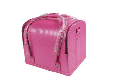 Pink Makeup Storage Box Bag Travel Beauty Case Cosmetic Luggage Organizer