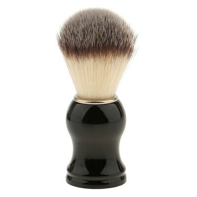 Portable Synthetic Hair Shaving Brush ABS Handle Barber Tool for Men Black