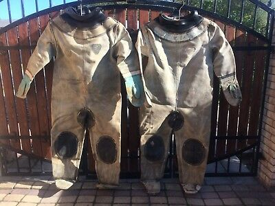 Soviet Russian diving suit for 3-bolt diving helmet, USED.