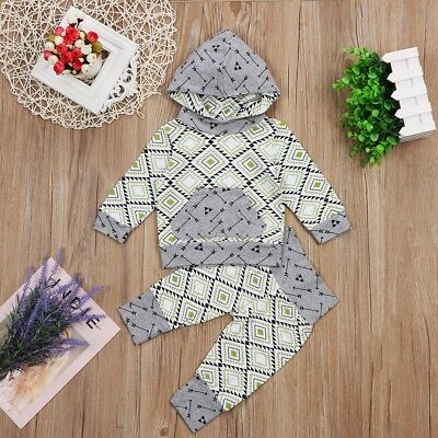 Infant Baby Clothes Hoodie Sweatshirt Tops Pants Toddler 2Pcs Outfits Set
