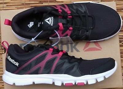 "Reebok ""Yourflex Trainette Sc"" Womens Black Lite Cool Mesh Athletic Shoes New"