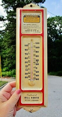 AMERICAN TELEPHONE & TELEGRAPH Thermometer Cableman Advertising: Greensboro, NC