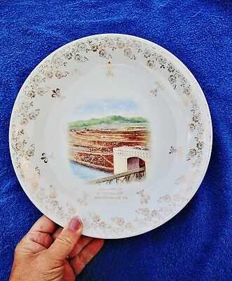 c.1910 Antique Advertising Plate: Compliments of F. MULLENS, CENTRE VALLEY, PA