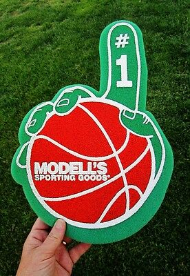 MODELL'S SPORTING GOODS Ad Promotional Number One Foam Finger BASEBALL Hand #1