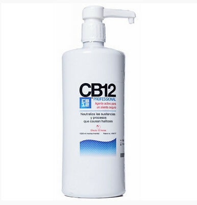 1 x Colutorio CB12 de 1000 ml enjuague bucal mal aliento salud dental cuidado