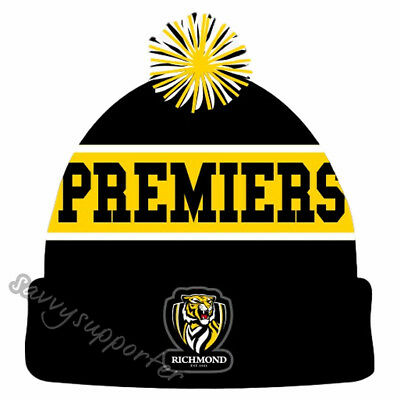 Richmond Tigers 2017 AFL Premiers Beanie BNIP