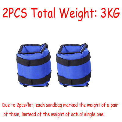 Resistance Leg Ankle Wrist Weights Running Fitness Strength Training 3Kg Sale UK