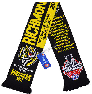 Richmond Tigers 2017 AFL Premiers Scarf BNIP **IN STOCK**