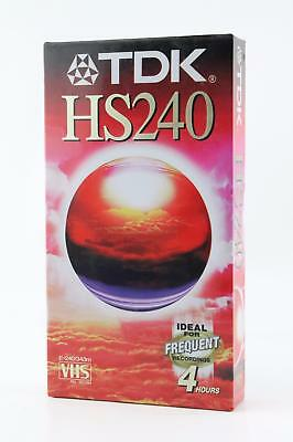 TDK HS240 VHS Blank Video Cassette Tape. 240 Min High Grade VHS Tape. VCR