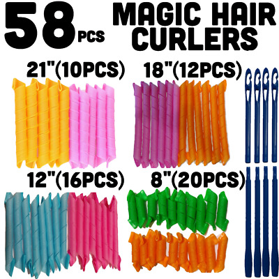 Hair Curlers Quick Twist Spiral Circle Curl Ringlets Magic Rollers Styling Tool