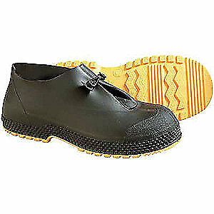 HONEYWELL SERVUS Overshoes,Mens,XL,Button Tab,Blk,PVC,PR, 11004B/XL, Black