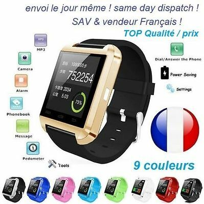 Red Smart Watch Bluetooth Connected mobile phone Android IOS New 2017