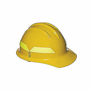 BULLARD Fire Helmet,Yellow,Front Brim, FCYLR, Yellow
