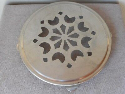 Vintage French Chrome TRIVET TRAY HOLDER