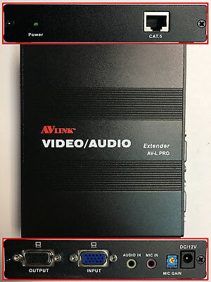 VE-A01B VGA Video//Audio Extender over CAT5e//CAT6 up to 1000ft HD15//RJ45