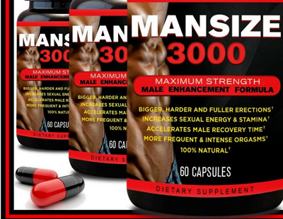 Male Penis Enlarger Growth Pills Get Bigger Grow Longer Thicker Gain Size New