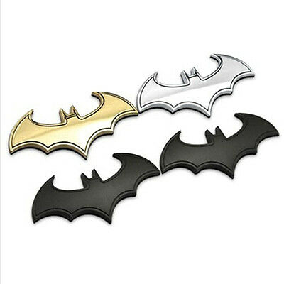 1PC BATMAN 3D METALLO AUTO ADESIVO STEMMA EMBLEMA Coda decalcomanie accessori