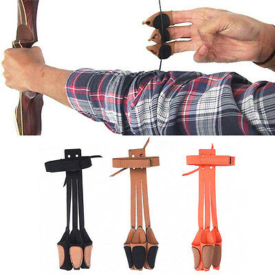 Unisex Handmade Shooting Archery Finger Glove Hand Protector Guard Bow String