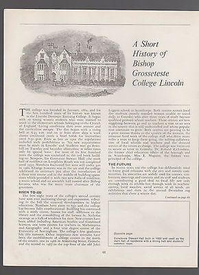 (253) Bishop Grosseteste College Lincoln - 1970 Article
