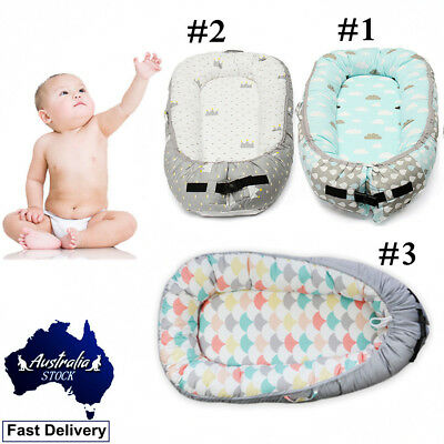 Baby Nest Removable Cover Newborn Sleeper Cot Crib Bed 100%Cotton Multi-function