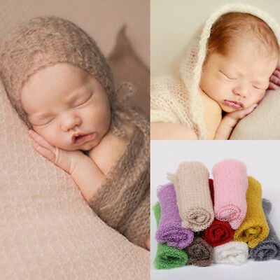 Newborn Baby Girl Crochet Knit Wrap Cocoon Swaddle Photography Photo Props UK