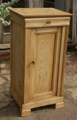 A FINE LATE 19th CENTURY FRENCH PINE  BEDSIDE CABINET