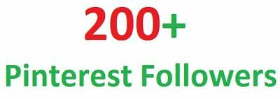 I will give real 200+ Pinterest Followers in your Page