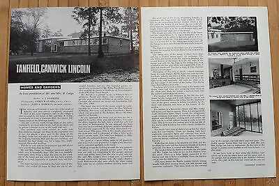 (2370) Tanfield Canwick Lincoln Mr & Mrs B Lodge - 1966 Article
