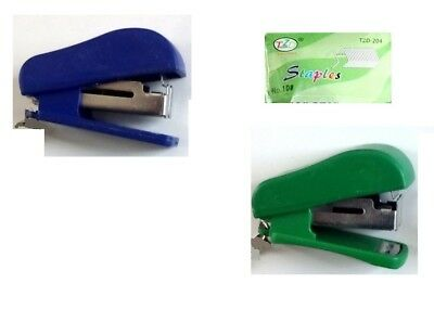 Mini Small Pocket Size Stapler Plus Staples School Office Gift strong