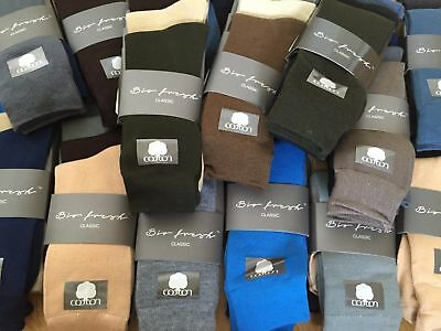 6 Pairs Mens Bio Fresh Socks Size 6 - 11 Joblot Job Lot Christmas Xmas Grey Blue