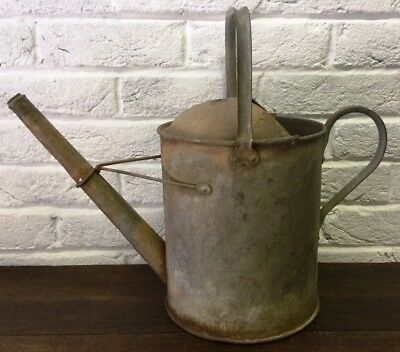 Galvanised Watering Can Old Rustic Vintage  Garden Florist Prop - Planter Pot