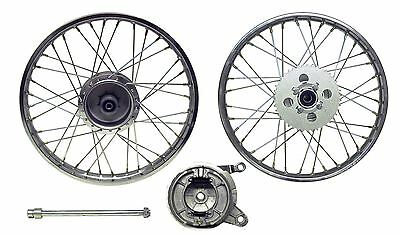 Suzuki AP50 , A100, Rear Wheel, Complete, Drum Brake, 1.40 x 17, Rim