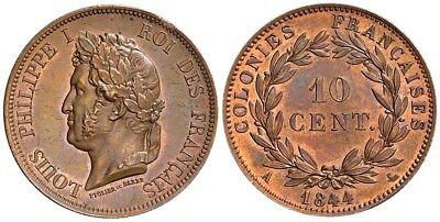 France Colonies, 10 Cents 1844 A (Paris), for use in Marquesas Islands