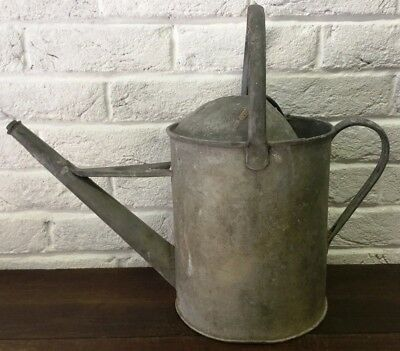 Galvanised Watering Can Vintage Traditional Watertight  - Garden Florist Prop