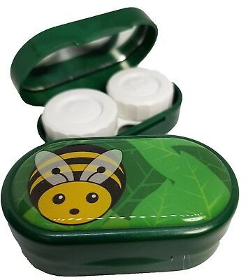Cute Animals Mirror Case - Contact Lens Soaking Storage Case UK MADE - Bee