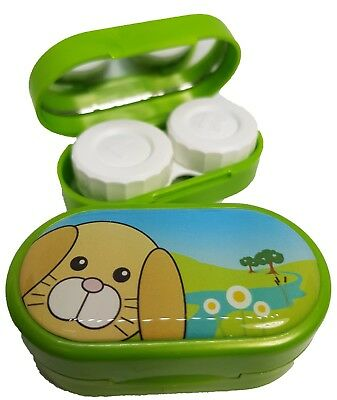 Cute Animals Mirror Case - Contact Lens Soaking Storage Case UK MADE - Rabbit
