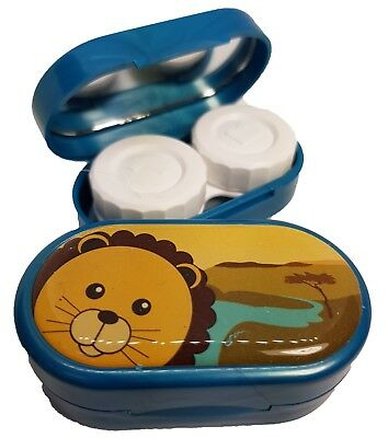 Cute Animals Mirror Case - Contact Lens Soaking Storage Case UK MADE - Lion