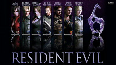 """012 Resident Evil 6 -  Biohazard Zombie Shooting Hot TV Game 42""""x24"""" Poster"""