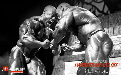 """238 GYM - Phil Heath Body Building Muscle Exercise Work Out 38""""x24"""" Poster"""