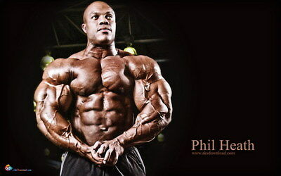 """247 GYM - Phil Heath Body Building Muscle Exercise Work Out 38""""x24"""" Poster"""
