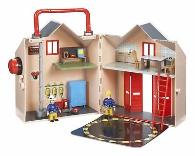 Fireman Sam Deluxe Fire Station & 2 Figures With Sound Toy Playset Age 3+