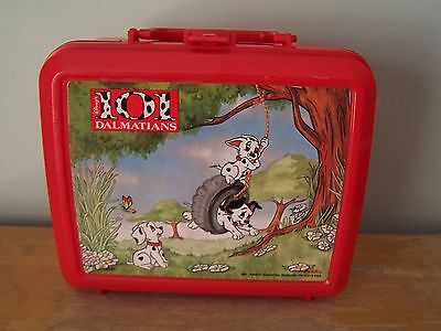 Vintage Red Plastic 101 Dalmatians Aladdin Lunchbox - No Thermos