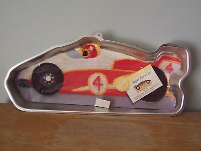 1990 Super Race Car Wilton Cake Pan- 2105-6508 - With Original Label