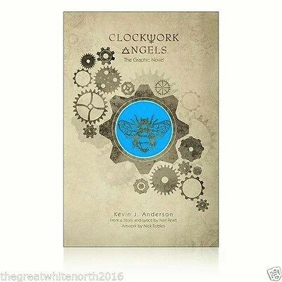Neil Peart Clockwork Angels Graphic Novel Autographed Kevin J Anderson Ltd ed
